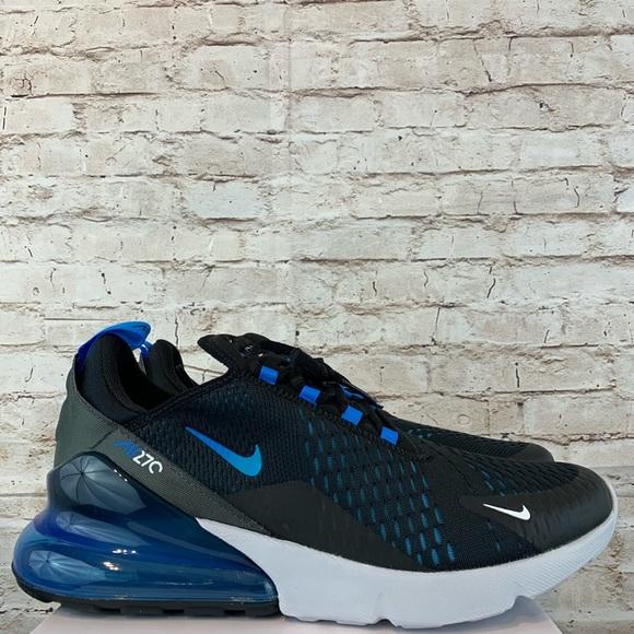 NIB Nike Air Max 270 Men Shoes Blue Fury Black NWT